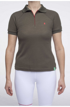 polo-femme-sport-thermoregulateur-bambou-lapooi-kaki