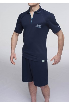 Polo anti UV Sea Cleaners bleu marine Homme LOPI
